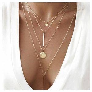 Jewelry - Boho Multi-Layered Pendant Necklace